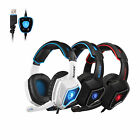 SADES Spirit Wolf 7.1 Surround Sound Stereo Gaming Headset USB with MIC 3Colors