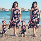 Summer Family Clothes Mother Daughter Beach Sundress Women Kids Girls Long Dress