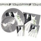 SILVER WEDDING Party Range (Napkins/Plates/Invitations){25th Anniversary}