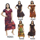 Mini Dress MZA6 Patchwork Cotton Thai On-Off Shoulder Gypsy Hippie Boho Comfy