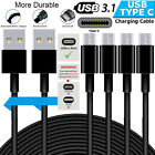 Long 2M/3M USB Type C 3.1 Fast Data Charger Cable Lead for Samsung Galaxy S8 S8+