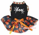 Halloween Black Top Pumpkin Boo Spider Web Tutu Pet Cat Dog Dress Puppy Clothes