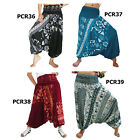 Pants PCR3639 Jumpsuit 2in1 Harem Loose Comfy Genie Hippy Aladdin Women Trousers