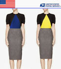Color Block Wear To Work Geometric Formal Party Office Wiggle Pencil Dress Hot