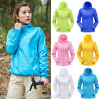 US Outdoor Unisex Waterproof  Jacket Thin Mens Womens Lightweight Rain Coat