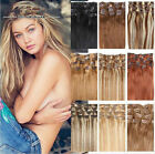 15 18 20 70g full head clip in 100 remy human hair extensions hair weft new