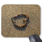 Beach Mousepad - Pebble Heart in Sand - Mouse Pad