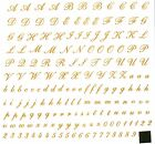 """New Design Alphabet in Gold or Silver 7-1/4"""" X 7-1/4"""" Sheet Ceramic Decals Dx  image"""