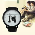 Fashion Lovers Watch Men Women Leather Strap Quartz Analog Wristwatch Watch #A