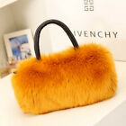1X Women Lady Handbag Shoulder Faux Fur Clutch Tote Bag Purse Wallet BB