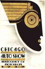 Chicago Illinois Car Show Vintage Deco Fashion 1932 Auto Poster Repro FREE S/H