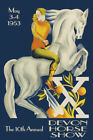 1953 Horse Show Dressage Sport USA Vintage Poster Repro FREE S/H in USA