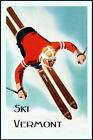 American Mountains Vermont Ski Race Winter Sport Vintage Poster Repro FREE S/H