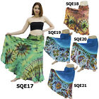 Skirt SQE17 Thai Crochet Cotton Tie-Dye Batik Long Boho Gypsy Hippy Broomstick
