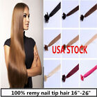 USA stock! 20 inch Remy Nail Tip Human Hair Extensions 50g, 3-5 days delivery!