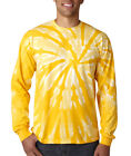 Gildan Tie Dye Men's One-Color Long-Sleeve Pinwheel Tee Crew Neck T-Shirt 89