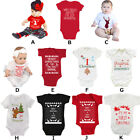 Newborn Baby Boy Girl 1st Christmas Romper Jumpsuit Bodysuit Xmas Costume Outfit