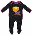Girls My First Halloween Pumpkin All in One Romper Tiny Baby to 12 Months