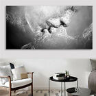 Art - Black White Love Kiss Abstract Art on Canvas Painting Wall Art Picture Print US