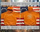 Stealth diggers Hoodie Orange we dig history logo Metal Detecting NH LFOD SDN