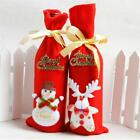 Red Wine Bottle Cover Bags Snowman Santa Claus Christmas Decoration Sequins LD
