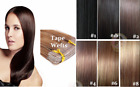 """Sexy 100% Remy Straight PU Tape in Hair Seamless Hair Extensions 16""""-24"""" 20 pcs"""