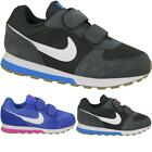 Kids Boys New Girls Velcro Sports Nike MD Runner Fitness Trainers Shoes Sizes UK