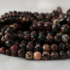 Grade A Natural Red Snowflake Obsidian Gemstone Round Beads - 4mm 6mm 8mm 10mm