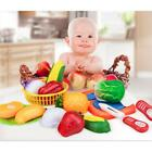 Kids Kitchen Fruit Vegetable Food Pretend Role Play Cutting Set Toys Gifts LD