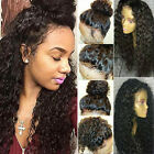 Peruvian Virgin Human Hair Full Front Lace Wig Glueless Curly Wave Lace Front..