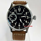 Corgeut 44mm Black Dial Seagull hand-winding 6497 Movement Mens Watch 2446