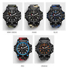 Mens Watch Dual Display Analog Digital LED Electronic Wrist Watches Camouflage