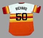 J.R. RICHARD Houston Astros 1976 Majestic Cooperstown Home Baseball Jersey