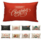 Merry Christmas Letter Sofa Bed Home Decor Pillow Case Cushion Cover Linen US