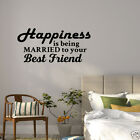 Wall Decal Happiness Is Being Married To Your Best Friend Vinyl Sticker GD830
