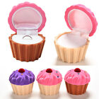 Charm Jewelry Box Candy Color CupCake Ring Earrings Storage Velvet Boxes