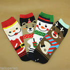 1PC Christmas Series Female Socks Cartoon Straight Cotton Lace Center Socks Gift