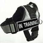 Reflective SERVICE DOG Vest Harness label Patches Training Padded Dog Harness