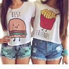 Fashion Girls White Summer Top Blouse Casual Tank Tops Best Friend T-Shirt LD