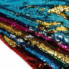 Reversible 5mm Sequin Fabric Flip Two Tone Mermaid Cloth Shiny Scale Table Cloth