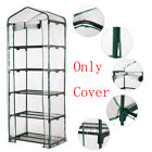 3/4/5 Tier Greenhouse Steel Frame Plastic PVC Cover Garden Plants Growing Shade