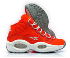 New Mens Reebok Question Mid Otss V69689 Atomic Red/grey/white Kevlar Limited