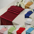 10/100pcs Satin Table Runner Cloth Wedding Chair Sashes Cover Event Home Decor