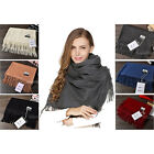 HOT New Acne Pure Color Virgin Wool Unisex Pashmina Cashmere Scarfs Shawls New
