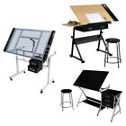 Tiltable Tabletop Drawing Board Table Adjustable Drafting Station Desk Art Craft