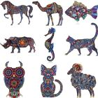 Print Pattern Pin Brooch Dragon Cat Animals Butterfly Womens Jewellery Party Hot