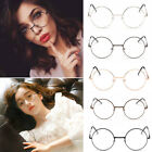 Unisex Large Oversized Metal Frame Clear Lens Round Circle Eye Glasses Nerd YG