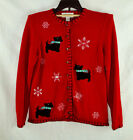Casual Corner Ugly/Cute/Tacky Scottish Terriers Dogs  Christmas Sweate  Sz PS