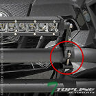"TEXTURE BLK 2"" TUBE BULL BAR ROLL CAGE MOUNT BRACKET CLAMPS FOR LED LIGHT FR T68"