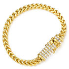 Miami Franco Box 6mm Mens Bracelet Chain 316L Stainless Steel Hiphop Gold Silver